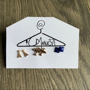 Jewelry - 3 pairs of travel earrings
